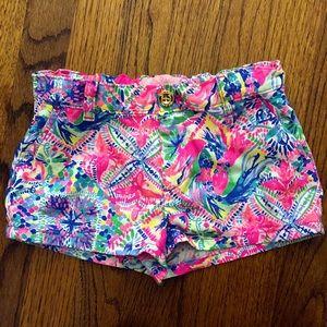 Lilly Pulitzer girls Callahan shorts 7 pink blue